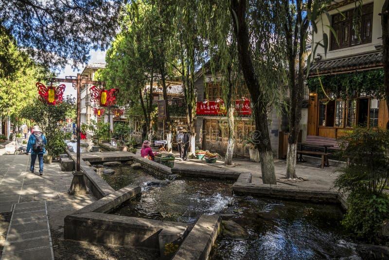 Calle histórica en Dali Old Town, provincia de Yunnan, China foto de archivo libre de regalías