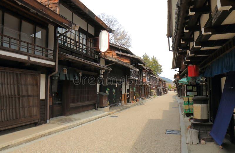 Calle histórica Nagano Japón de la casa de Naraijyuku fotografía de archivo libre de regalías