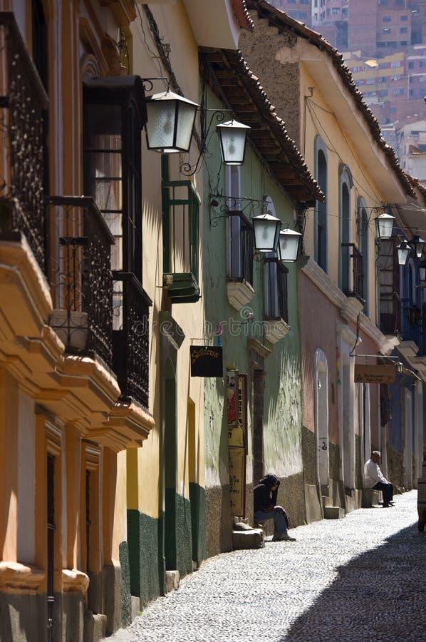 Calle Jaen - La Paz - Bolivia imagen de archivo libre de regalías