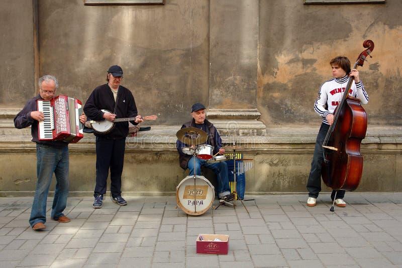 Calle Jazz Band fotografía de archivo libre de regalías