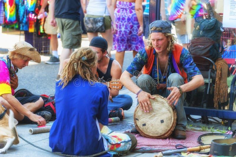 Calle justa, Portland, Oregon, evento anual del espino de la comunidad imagen de archivo