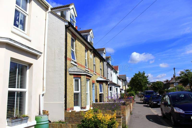Calle Kent England de la ciudad de Hythe foto de archivo libre de regalías