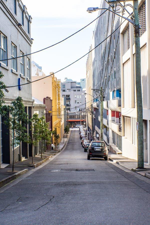 Calle laneway del camino del backstreet de la ciudad fotografía de archivo libre de regalías
