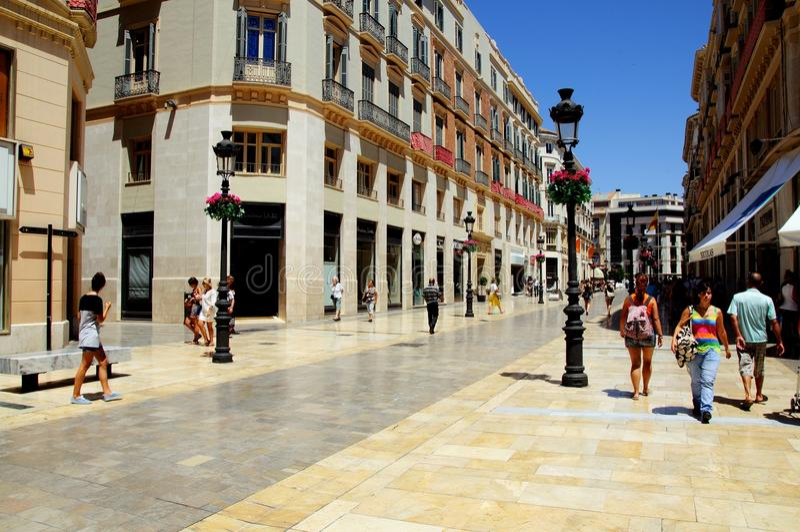 Calle Larios, Malaga stock foto