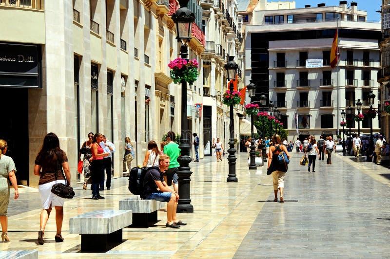 Calle Larios, Malaga, Spanje stock foto