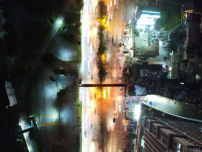 Calle Manila de la visión superior foto de archivo libre de regalías