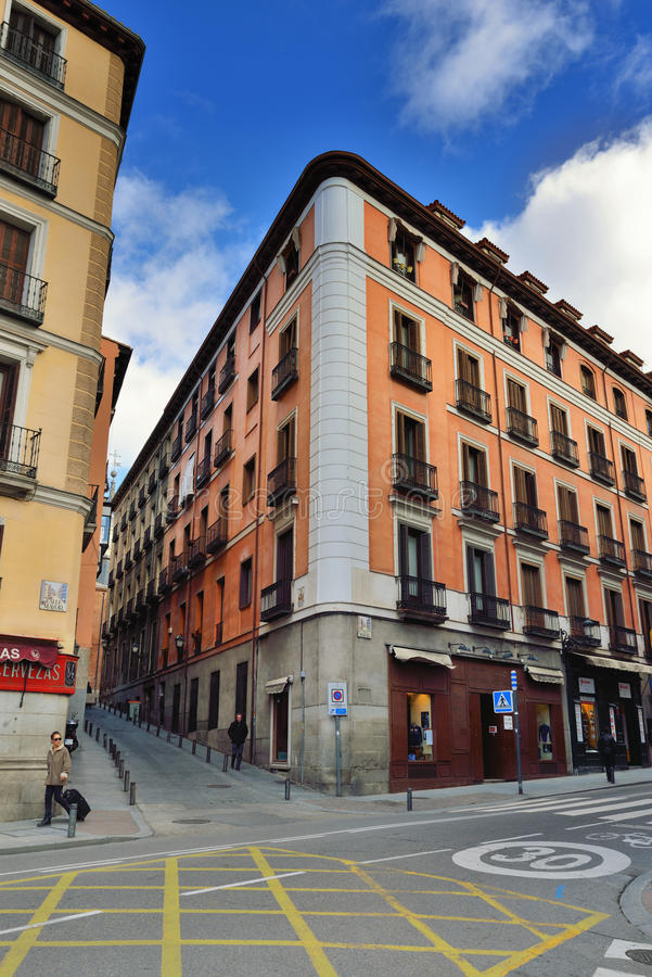 Calle Mayor, Madri imagens de stock royalty free