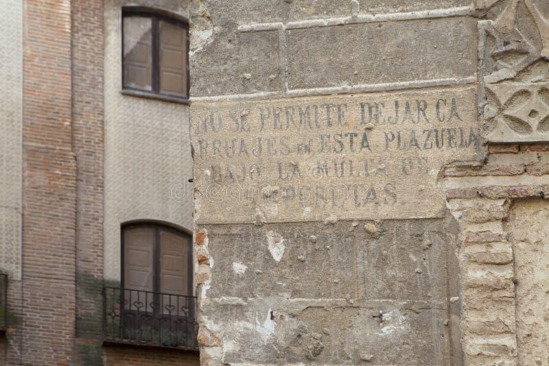 Calle medieval en Segovia fotos de archivo