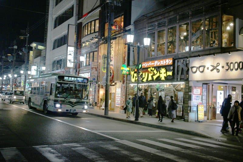 calle moderna en Kawaramachi en Kyoto Japón fotos de archivo libres de regalías