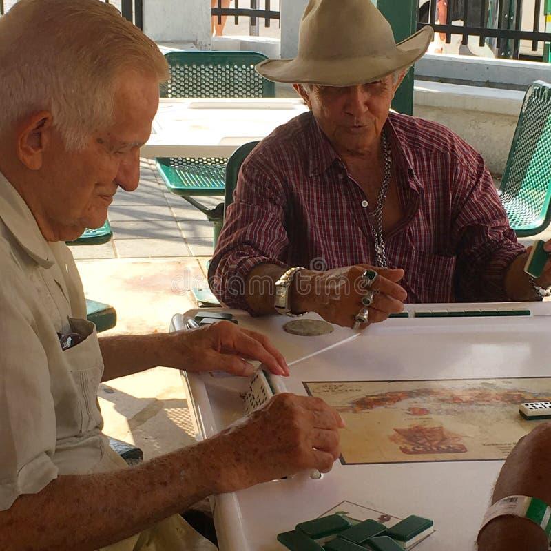 Calle Ocho Domino Club em Miami imagens de stock royalty free