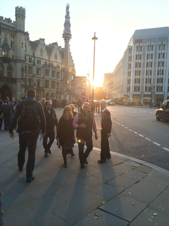Calle ocupada de Londres imagen de archivo
