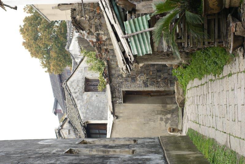 Calle posterior de casas viejas en Suzhou fotografía de archivo libre de regalías
