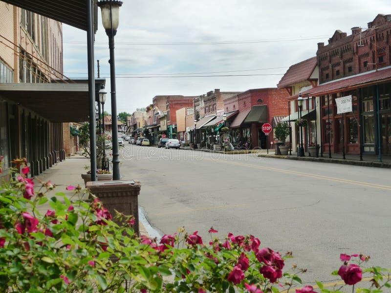 Calle principal, céntrica, Van Buren, Arkansas imágenes de archivo libres de regalías