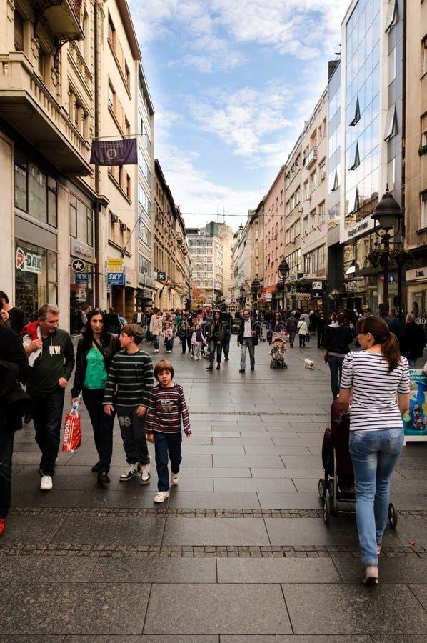 Calle principal de Belgrado foto de archivo libre de regalías