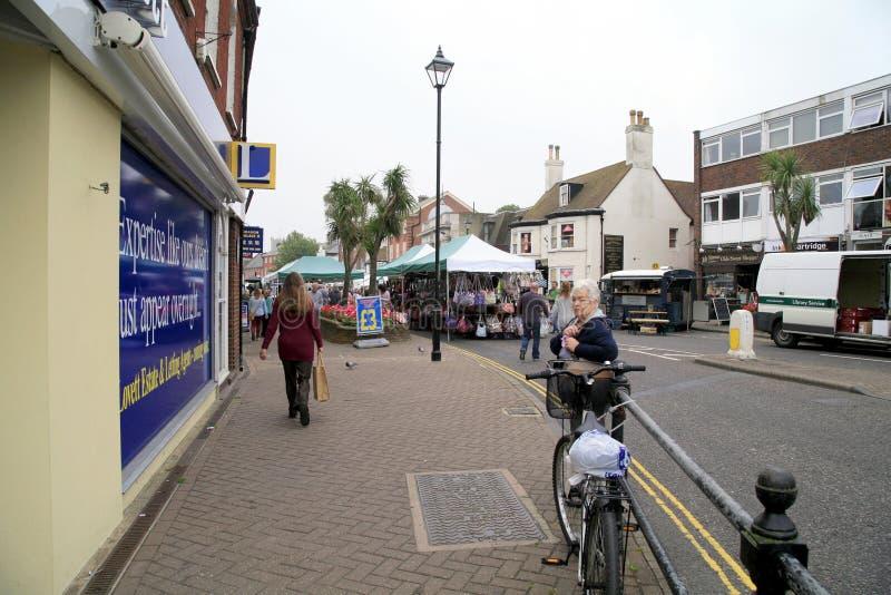 Calle principal de Christchurch, Dorset fotografía de archivo libre de regalías