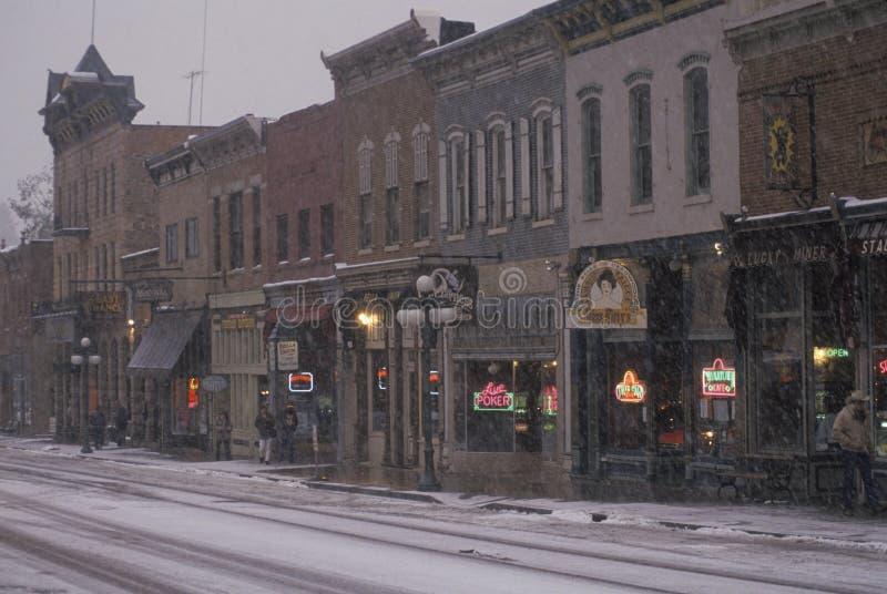 Calle principal de Deadwood imagenes de archivo
