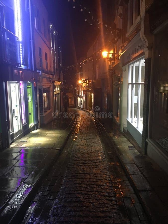 Calle principal de Folkestone imágenes de archivo libres de regalías