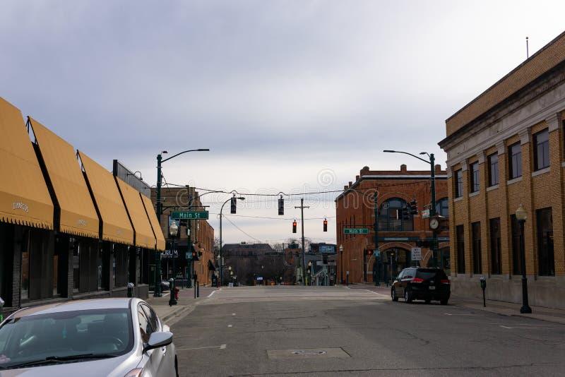 Calle principal, Rochester Michigan fotos de archivo