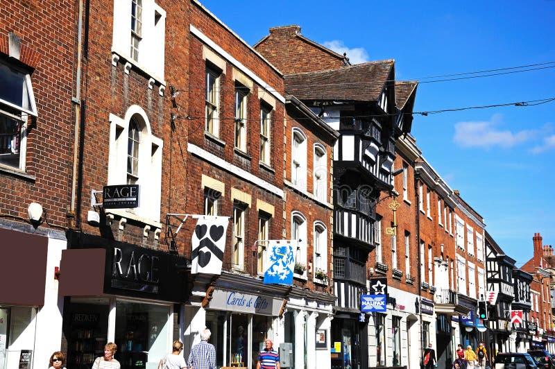 Calle principal, Tewkesbury fotos de archivo libres de regalías