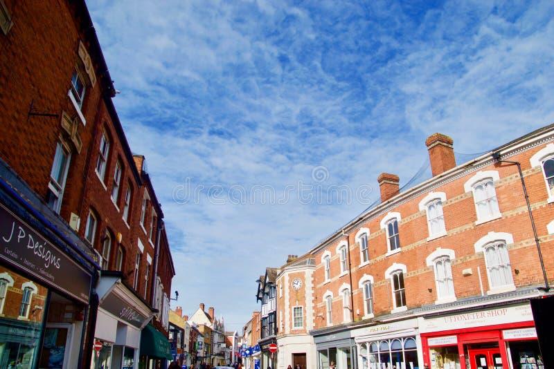 Calle principal y el cielo grande fotografía de archivo libre de regalías