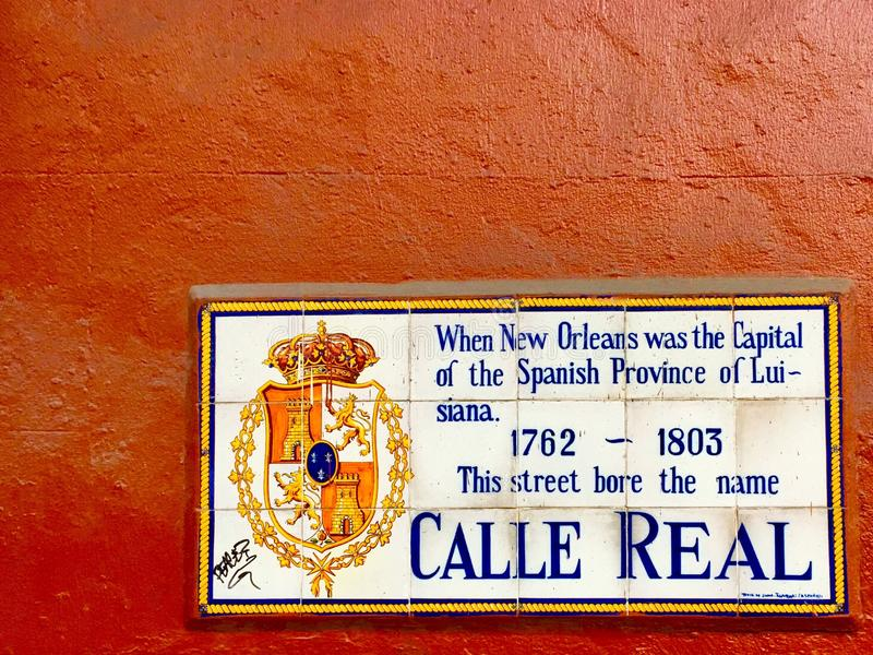 Calle Real arkivbild