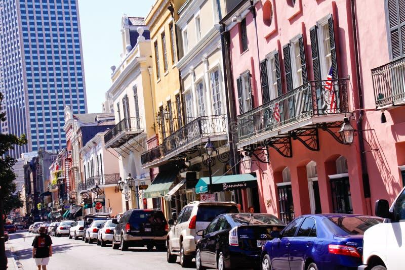 Calle real famosa de New Orleans foto de archivo libre de regalías