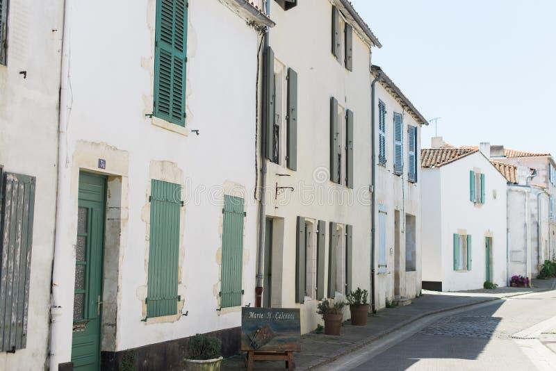 Calle rural en el sur de Francia imagenes de archivo