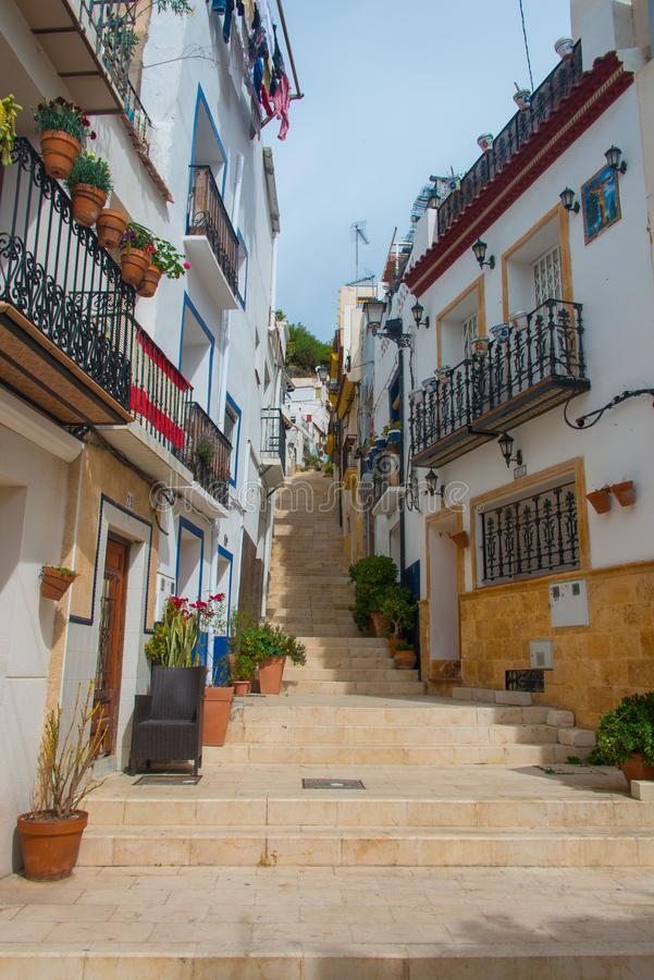 Download Calle San Rafael In Alicante Editorial Stock Image - Image of alacant, houses: 113240639