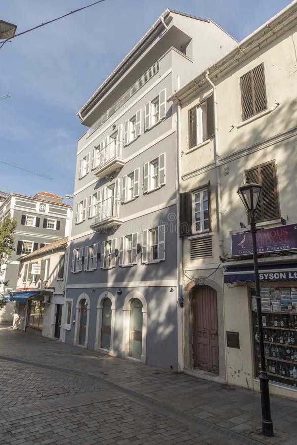 Calle secundaria Gibraltar fotos de archivo