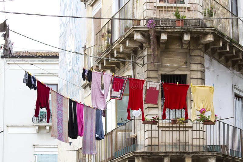 Calle siciliana foto de archivo