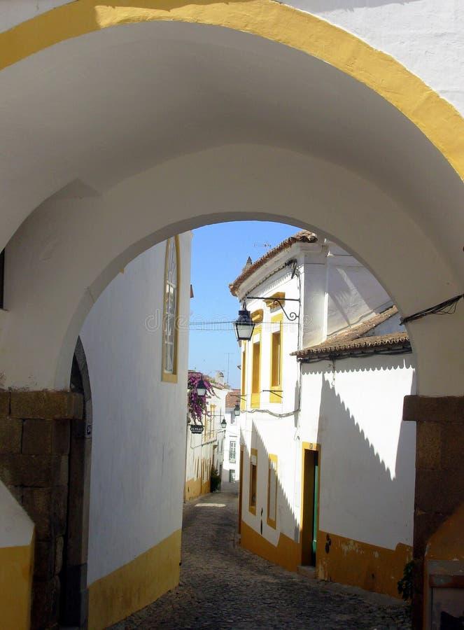 Calle Típica De Ãvora II Imagen de archivo