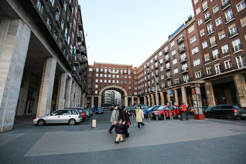Calle típica en Budapest imagen de archivo libre de regalías