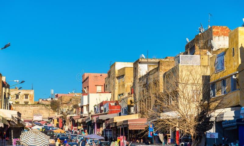 Calle típica en Medina de Meknes fotos de archivo libres de regalías
