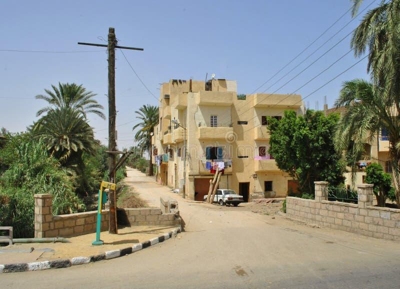 Calle típica en un país árabe, Egipto foto de archivo
