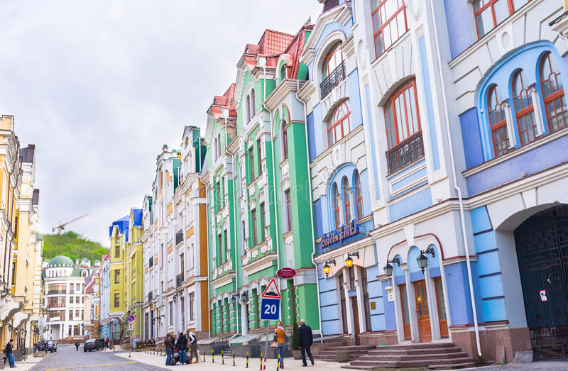 Calle turística imagen de archivo