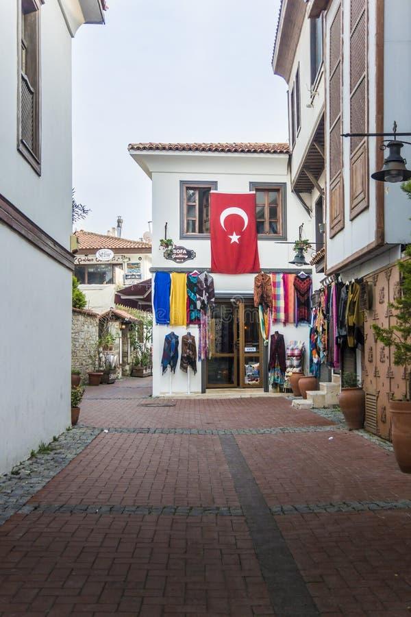 Calle turca en Kusadasi fotografía de archivo