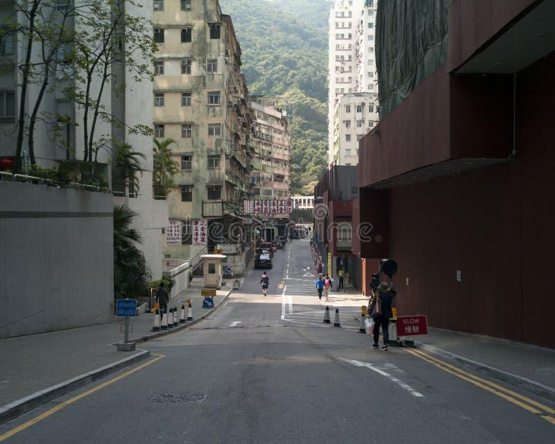 Calle vacía de Hong Kong fotos de archivo