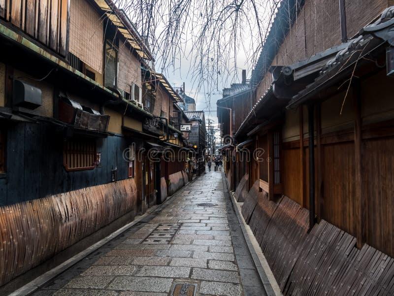 Calle vieja de Gion fotos de archivo libres de regalías