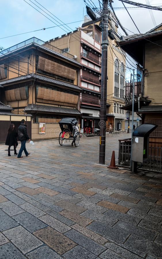 Calle vieja de Gion imagenes de archivo