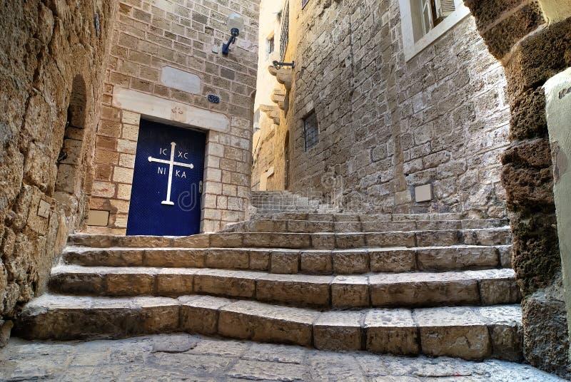 Calle vieja de Jaffa imagen de archivo libre de regalías