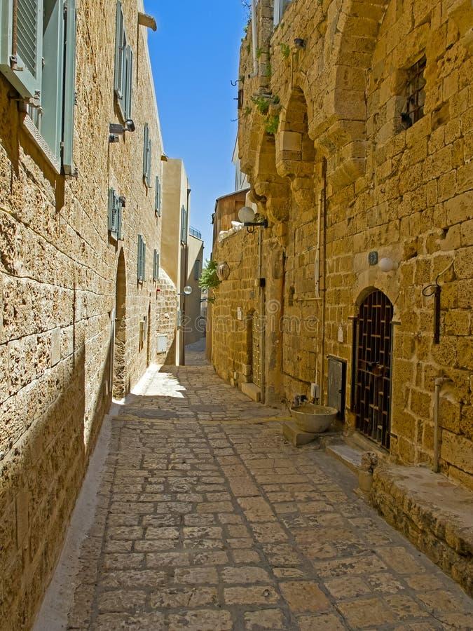 Calle vieja de Jaffa, Israel foto de archivo libre de regalías