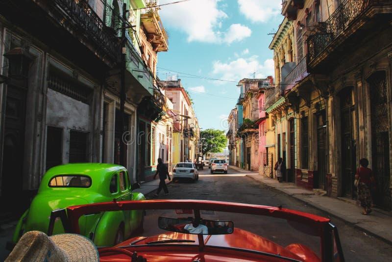 Calle vieja de La Habana en Cuba, Caribbeans fotos de archivo libres de regalías