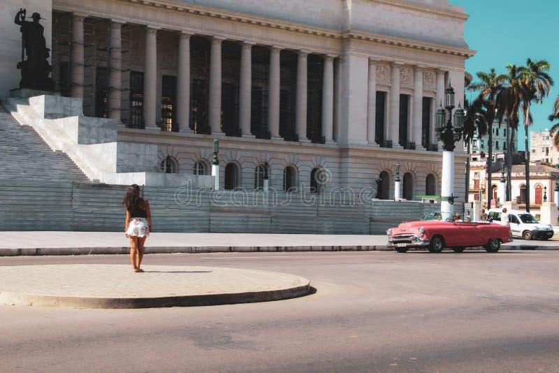 Calle vieja de La Habana en Cuba, Caribbeans imágenes de archivo libres de regalías