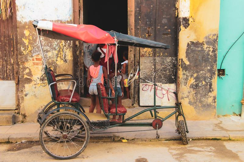 Calle vieja de La Habana en Cuba, Caribbeans fotos de archivo