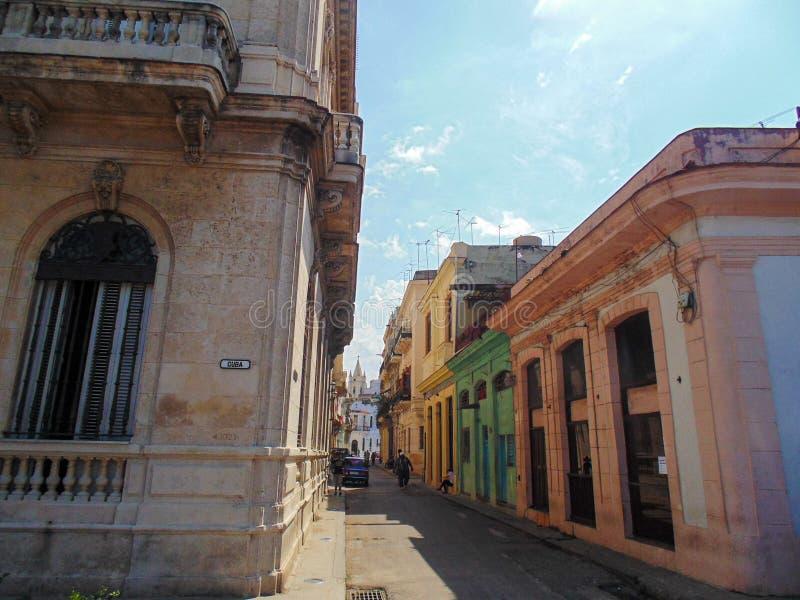 Calle vieja de La Habana en Cuba, Caribbeans imagen de archivo