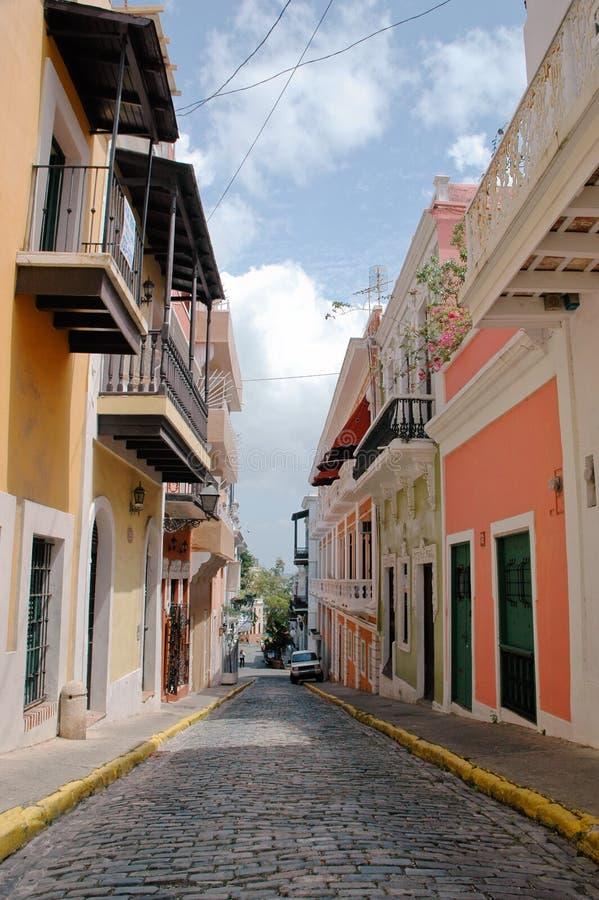 Calle vieja de San Juan fotografía de archivo libre de regalías