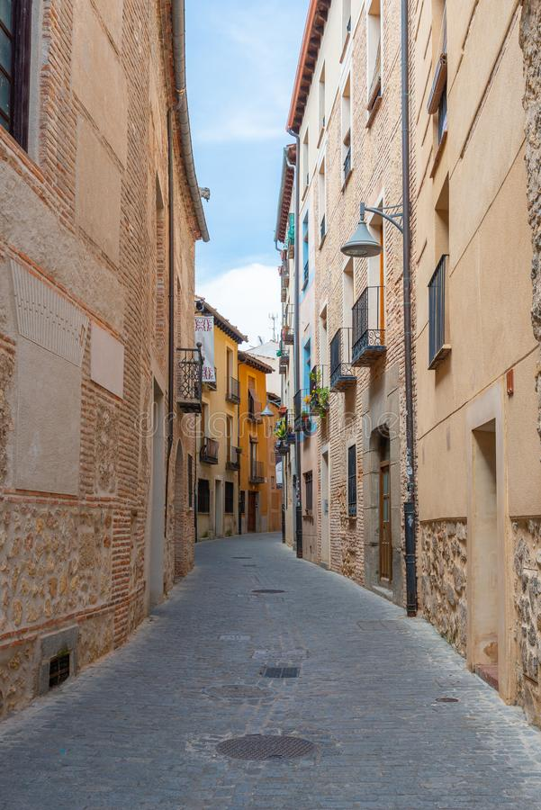 Calle vieja de Segovia, España, Castilla y León, Europa fotos de archivo