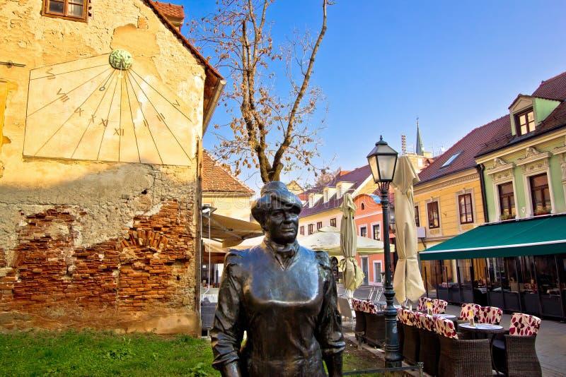 Calle vieja de Tkalciceva en Zagreb fotos de archivo libres de regalías