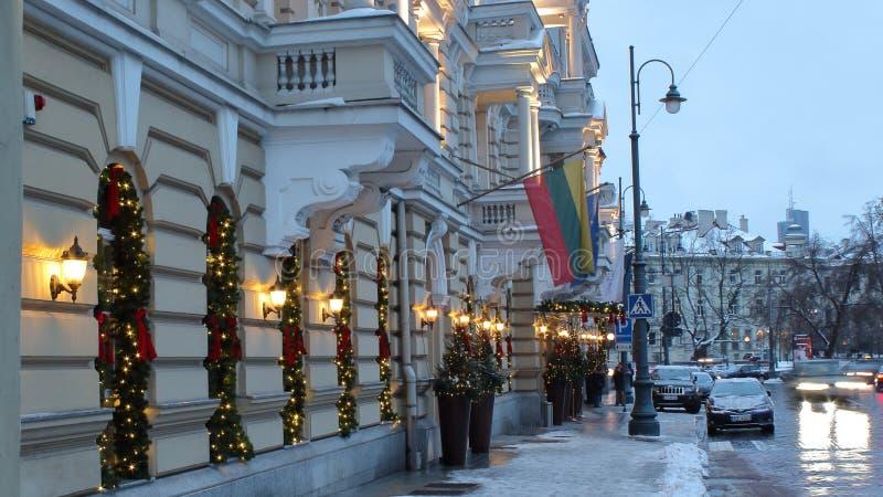Calle vieja 2019 de Vrublevskio de la ciudad de Vilna fotografía de archivo libre de regalías