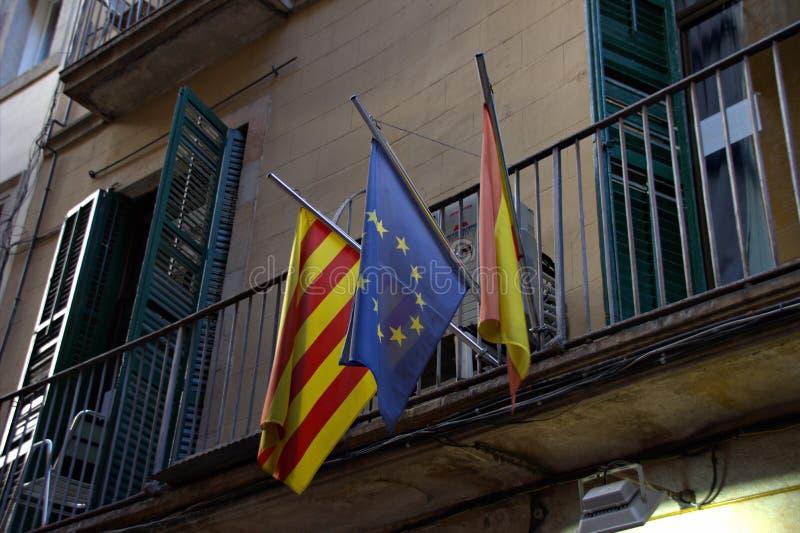 Calle vieja en Barcelona foto de archivo libre de regalías